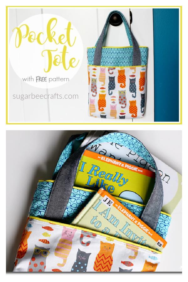 Pocket Tote Free Sewing Pattern