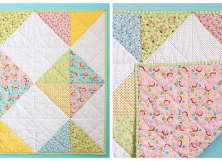 Simple Baby Quilt Free Sewing Pattern