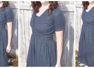 Wrap Nursing Dress Free Sewing Pattern