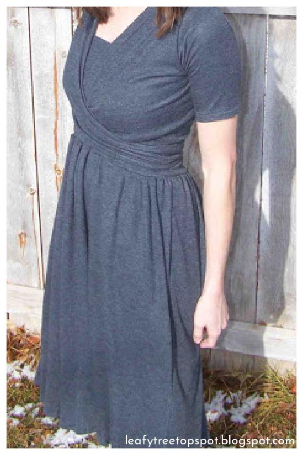Wrap Nursing Dress Free Sewing Pattern