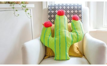 Cactus Cushion Free Sewing Pattern