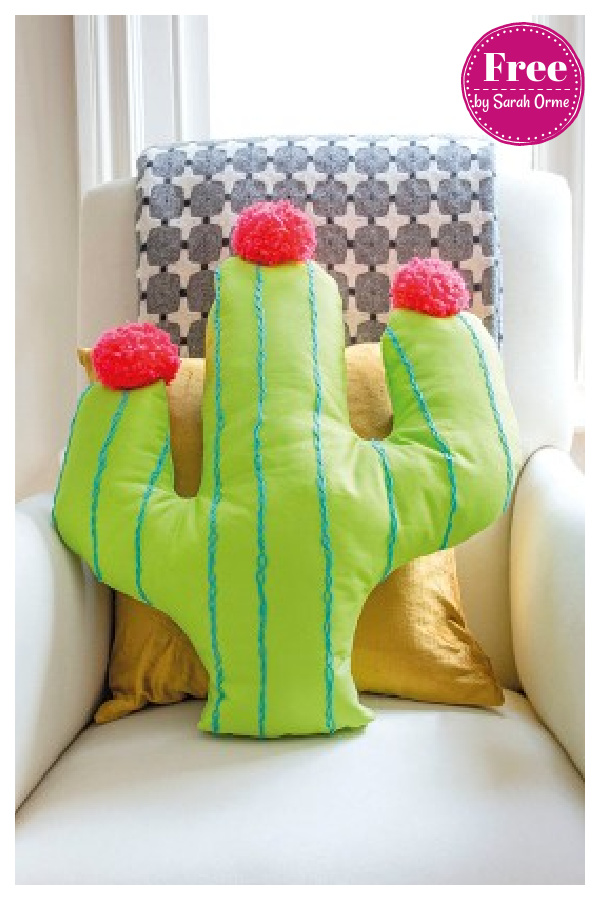 Cactus Cushion Free Sewing Pattern