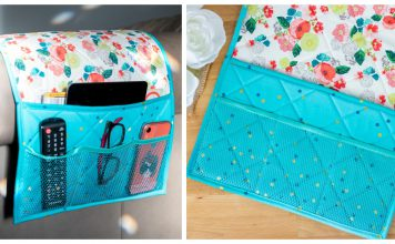 Couch Caddy Remote Control Organizer Free Sewing Pattern