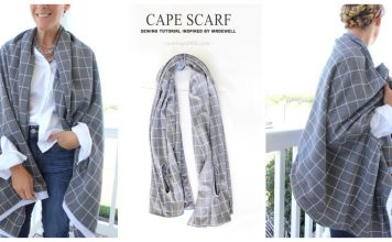 Cape Scarf Free Sewing Pattern