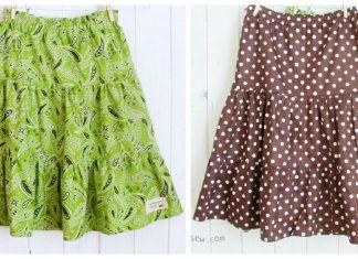 Girls Tiered Skirts Free Sewing Pattern