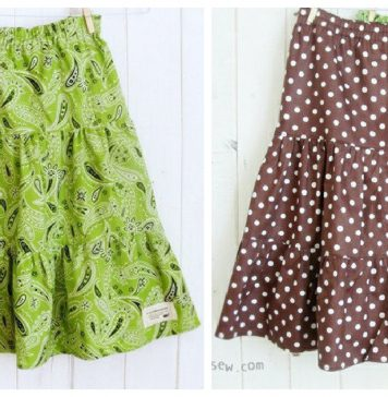 Girls Tiered Skirts Free Sewing Pattern