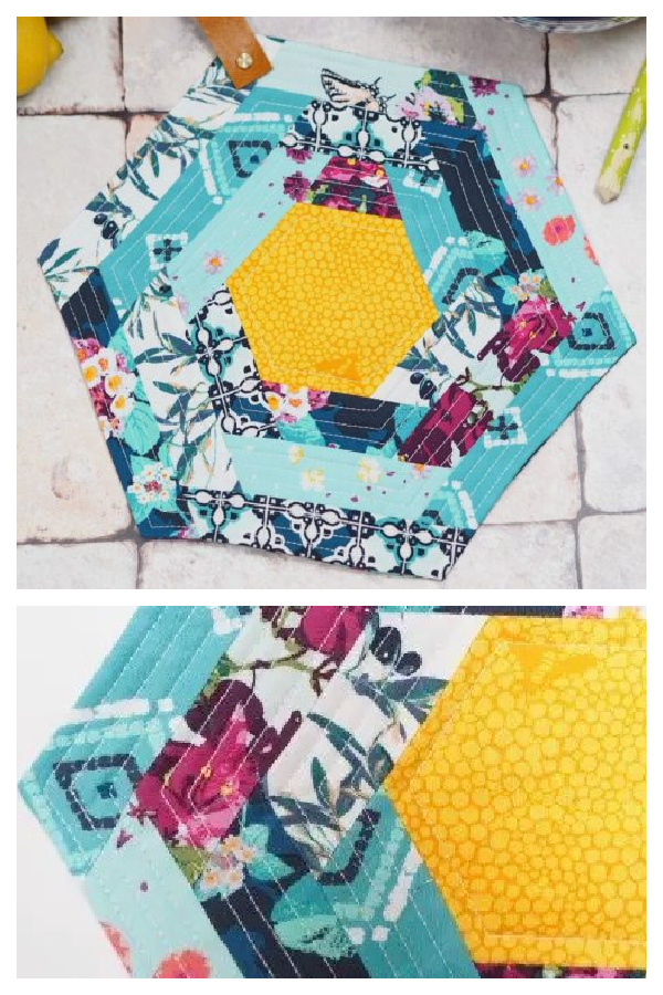 Hexie Pot Holder Free Sewing Pattern