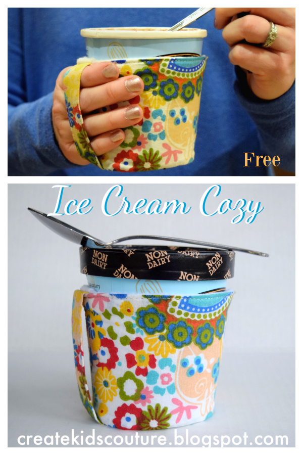 Ice Cream Pint Cozy Free Sewing Pattern