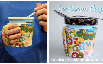 Ice Cream Pint Cozy Free Sewing Pattern