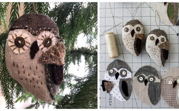 Owl Ornament Free Sewing Pattern
