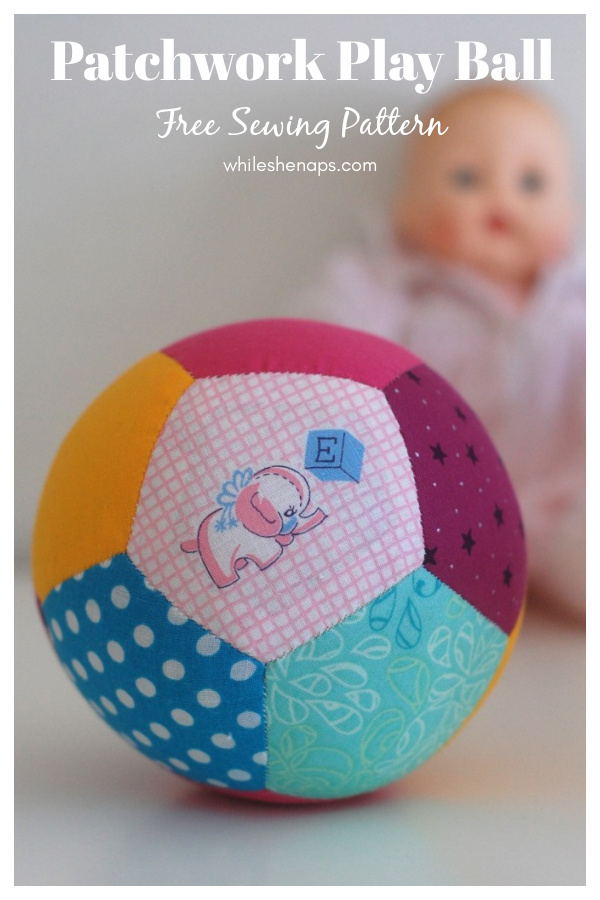 Patchwork Play Ball Free Sewing Pattern