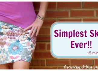 Simple Skirt Free Sewing Pattern