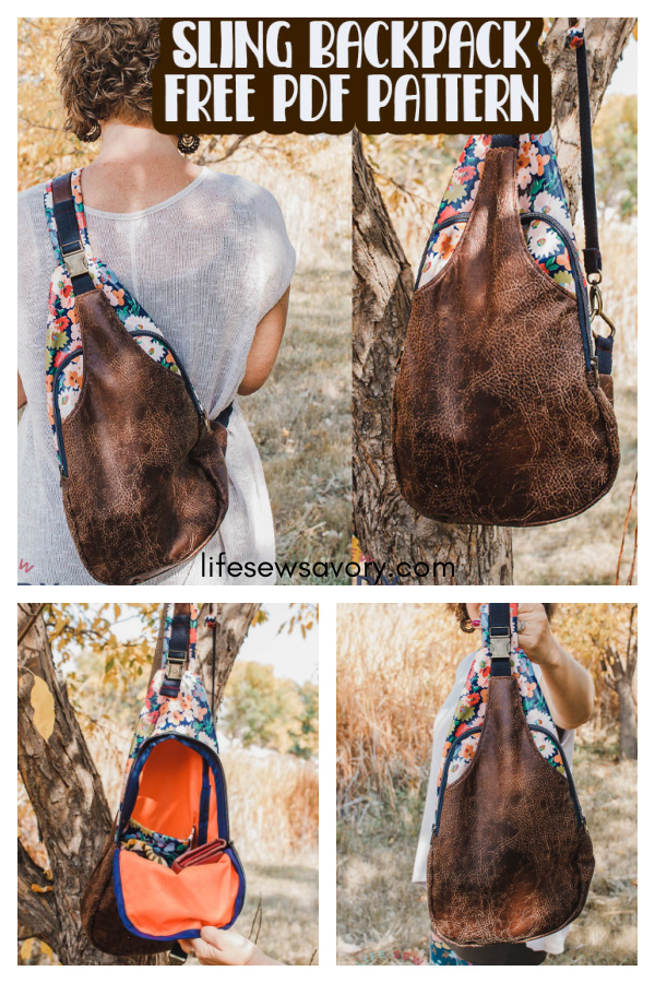 Sling Backpack Free Sewing Pattern