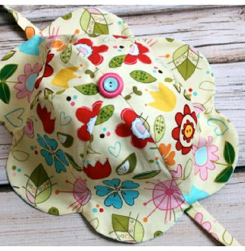 Tulip Petal Sun Hat Free Sewing Pattern