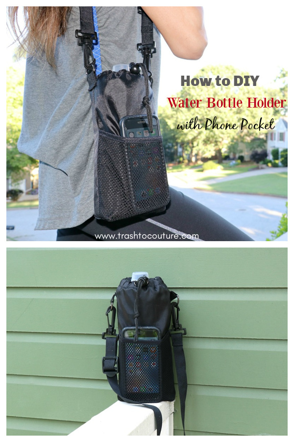 Water Bottle Holder with Phone Pocket Free Sewing Pattern
