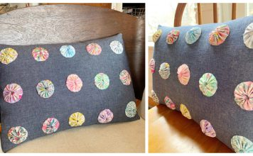 Yo-Yo Pillow Free Sewing Pattern