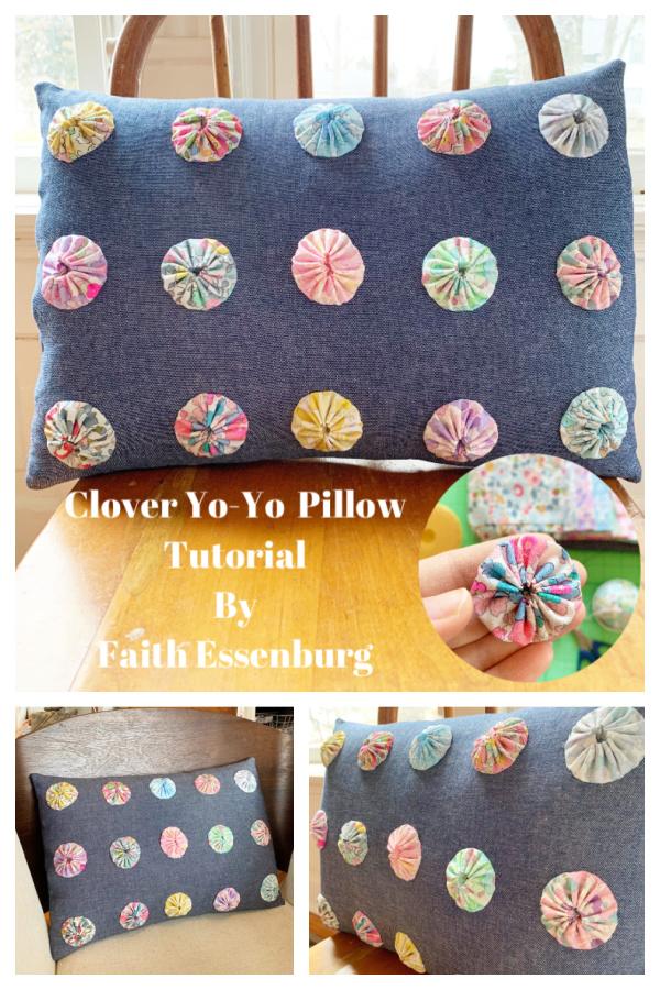 Yo-Yo Pillow Free Sewing Pattern