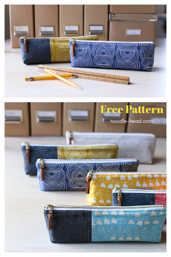 Canvas Pencil Pouch Free Sewing Pattern