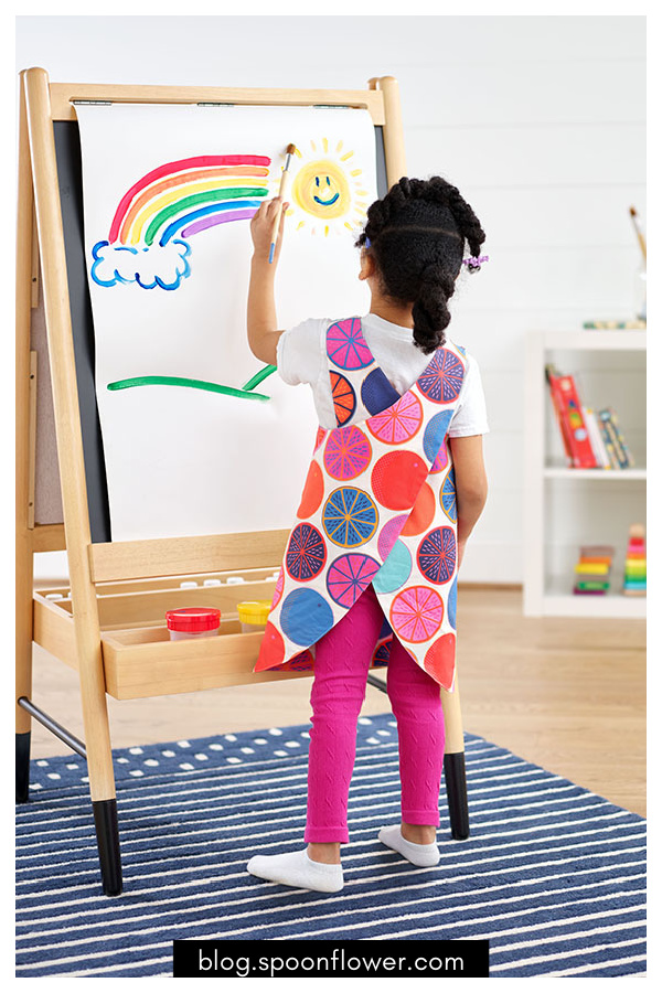 Child's Art Smock Free Sewing Pattern