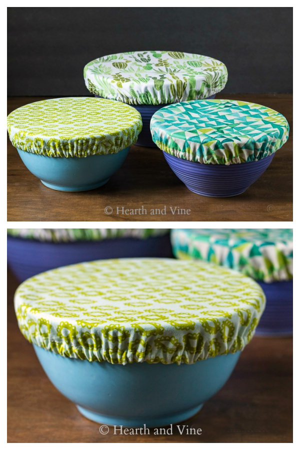 Fabric Bowl Cover Free Sewing Pattern