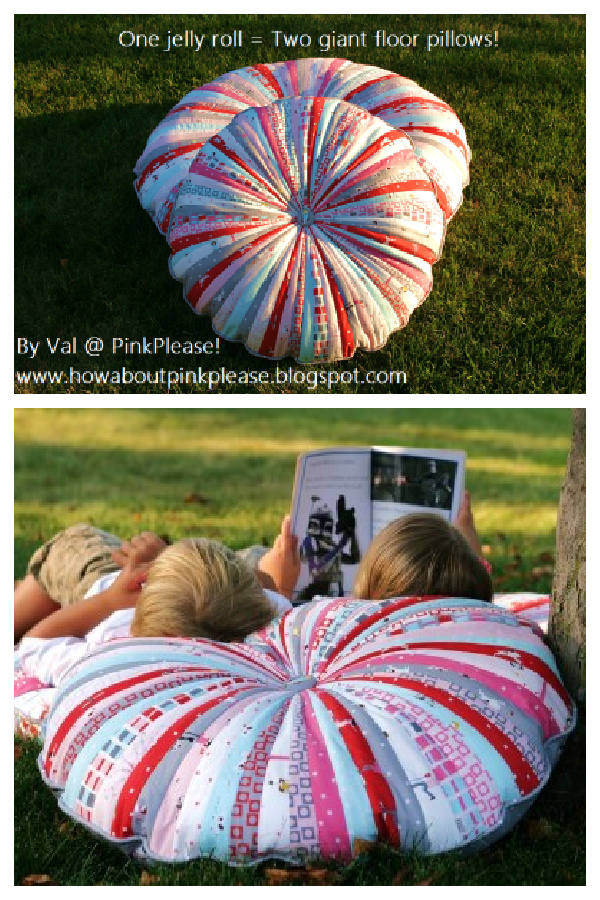 Jelly Roll Floor Pillows Free Sewing Pattern