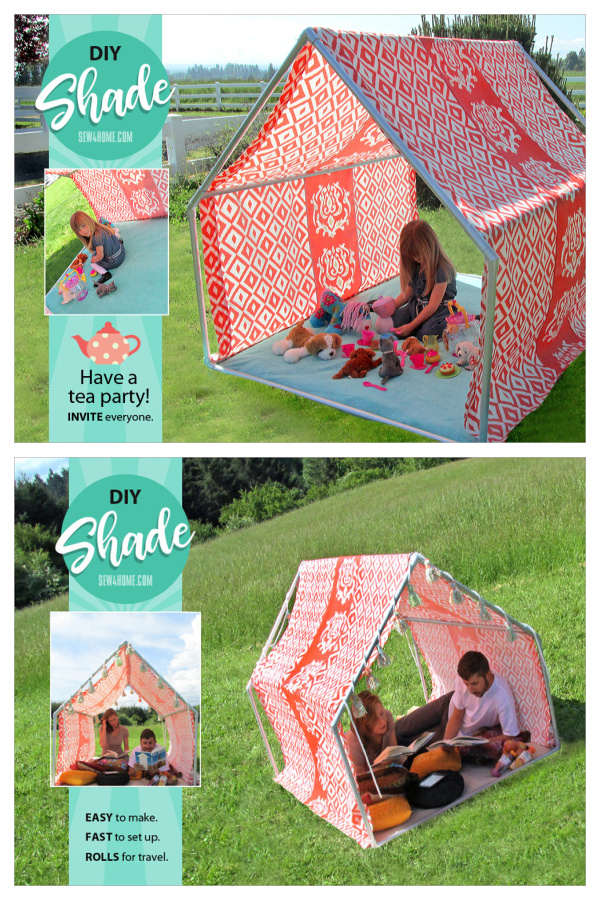 Playhouse Tent Free Sewing Pattern