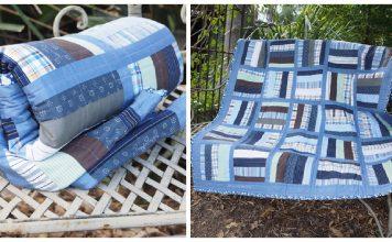 Repurpose Shirt into Quilt Free Sewing Pattern