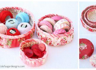 Round Basket Free Sewing Pattern
