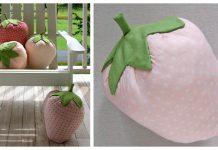Strawberry Pillows Free Sewing Pattern