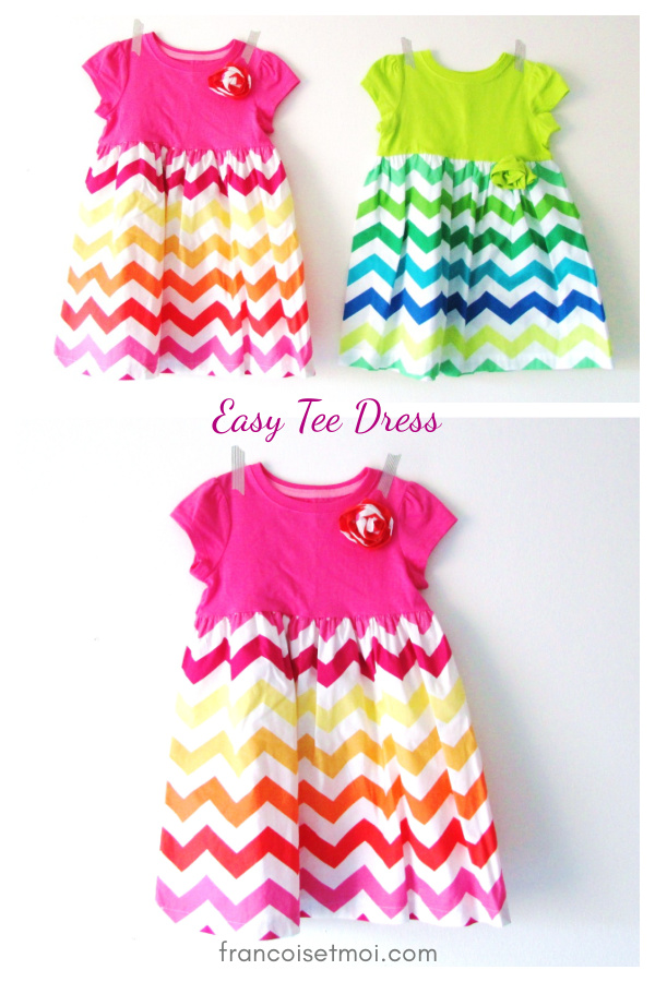 The Easy Tee-Shirt Dress Free Sewing Pattern
