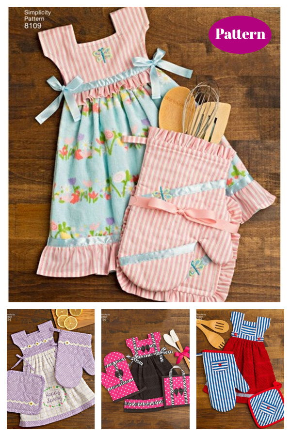 Towel Dresses Pot Holders and Oven Mitts Sewing Pattern