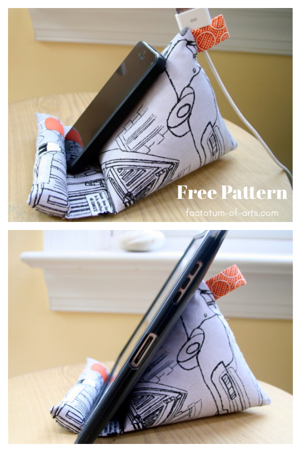 iPhone iPad Stand Free Sewing Pattern
