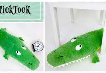 Friendly Stuffed Crocodile Free Sewing Pattern