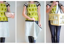 Hand Towel Apron With Zipper Free Sewing Pattern