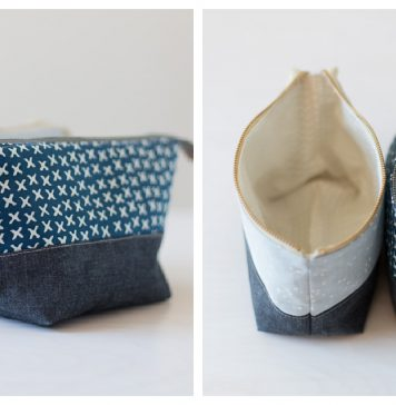 Open Wide Zippered Pouch Free Sewing Pattern