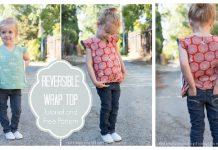 Reversible Wrap Top Free Sewing Pattern