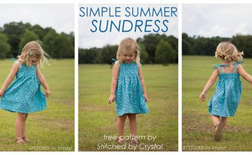 Simple Summer Sundress Free Sewing Pattern