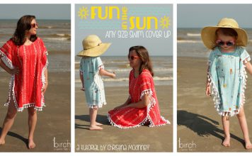 Swim Cover Up Free Sewing Pattern