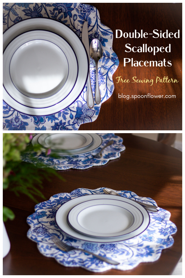 Double-Sided Scalloped Placemats Free Sewing Pattern