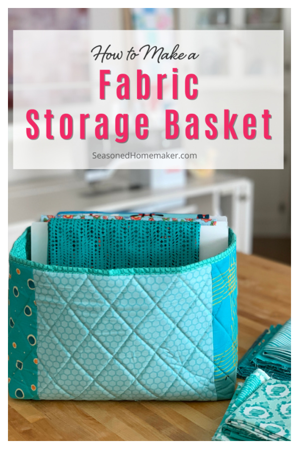 Fabric Storage Basket Free Sewing Pattern