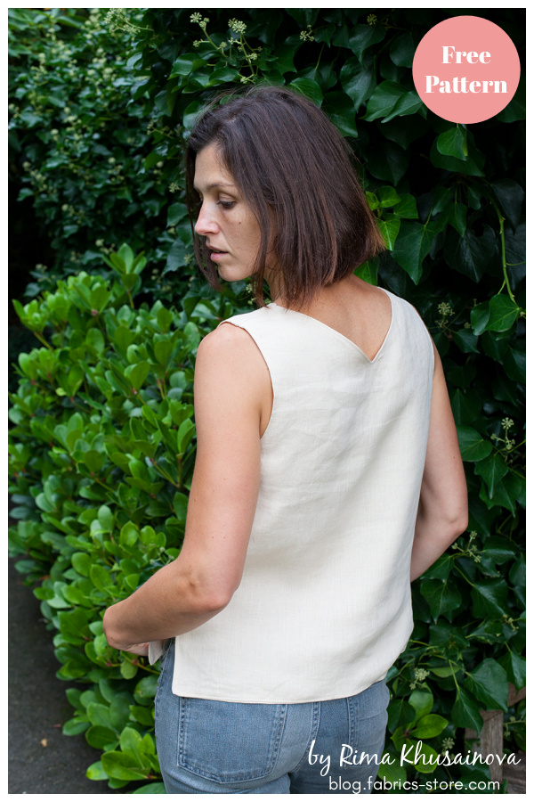 Reversible V-Neck Linen Tank Top Free Sewing Pattern