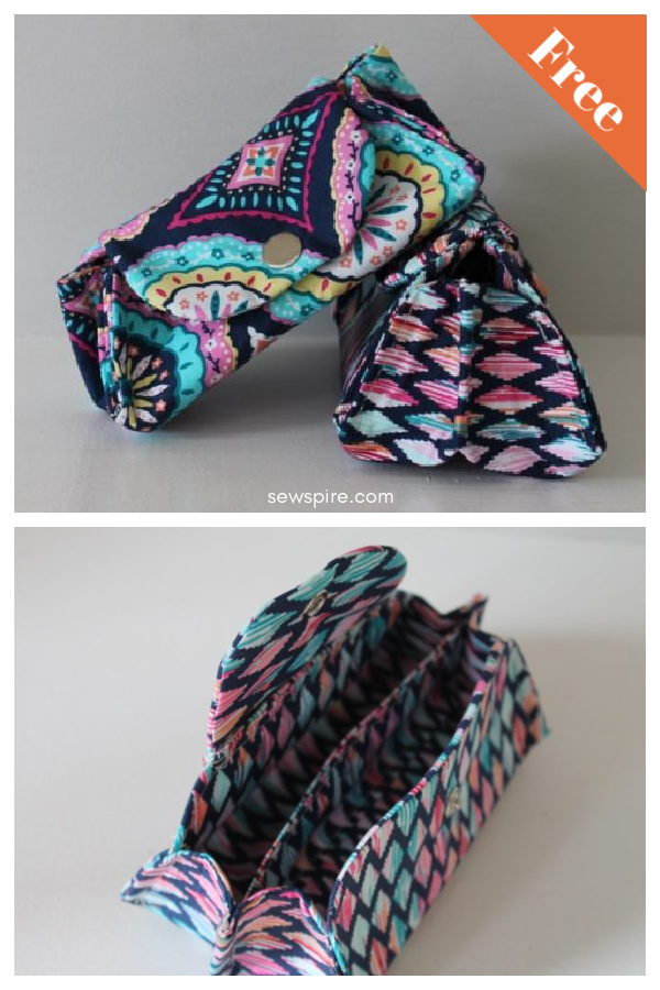 Divided Eye Glass Case Free Sewing Pattern