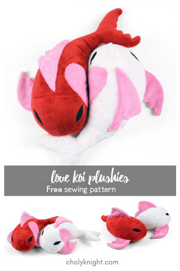 Love Koi Plushies Free Sewing Pattern