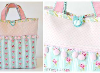 Pom Pom Tote Bag Free Sewing Pattern