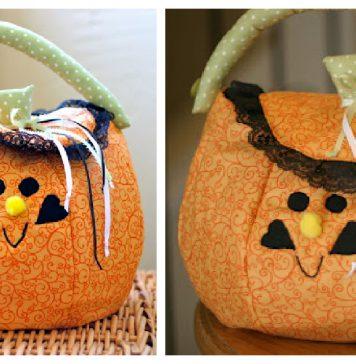 Pumpkin Trick or Treat Bag Free Sewing Pattern