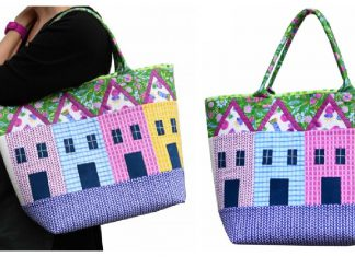 Row House Tote Free Sewing Pattern