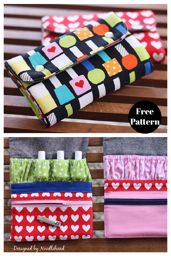 Snappy Manicure Wallet Free Sewing Pattern