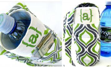 Water Bottle Sling Carrier Free Sewing Pattern