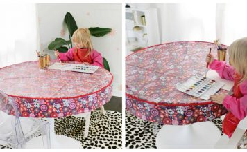 Waterproof Table Cover Free Sewing Pattern
