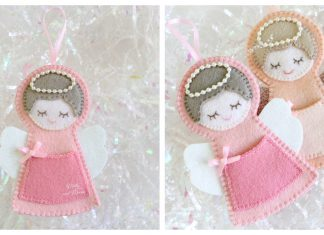 Angel Christmas Ornament Free Sewing Pattern